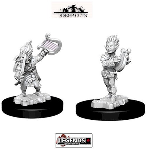 Deep Cuts - Unpainted Miniatures: Gnome Male Bard (2)  #WZK73344