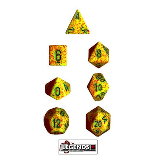 CHESSEX ROLEPLAYING DICE - Speckled Lotus 7-Dice Set  (CHX 25312)