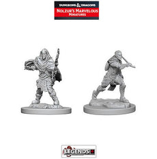 DUNGEONS & DRAGONS NOLZUR'S MARVELOUS UNPAINTED MINIATURES: Male Elf Fighters (2) #WZK73384