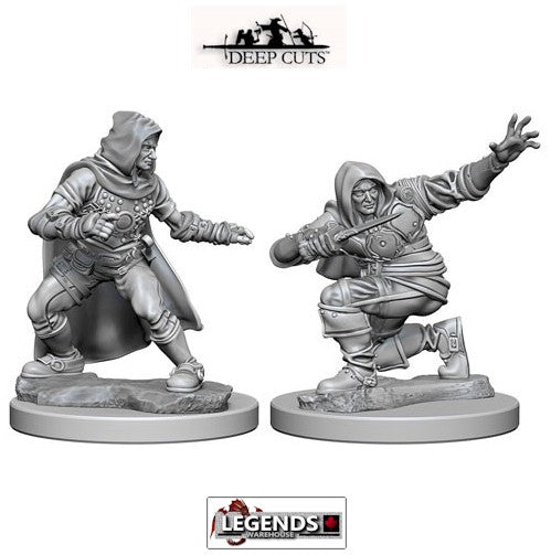 Deep Cuts - Unpainted Miniatures: Human Male Rogue (2)  #WZK72602