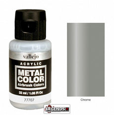 Vallejo Metal Color: Chrome  Product #VAL77707