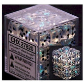 DICE - D6 - 36 Aquerple/Black-Borealis 12mm D6 Dice Block - CHX27820
