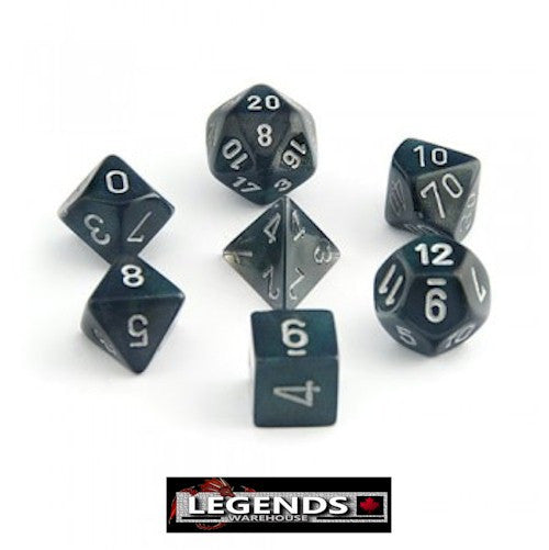 CHESSEX ROLEPLAYING DICE - Borealis Smoke 7-Dice Set  (CHX 27428)
