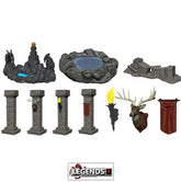 WizKids Miniatures: Fantasy Terrain - Painted Pools & Pillars (Set 1)