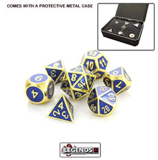 DIE HARD METAL DICE - Gold Sapphire - Gemstone Collection