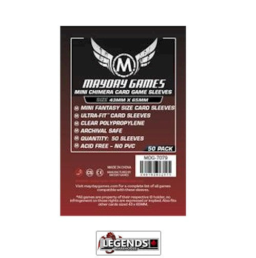 MAYDAY CARD SLEEVES - Card Game Card Sleeves MDG-7079 (43x65mm)