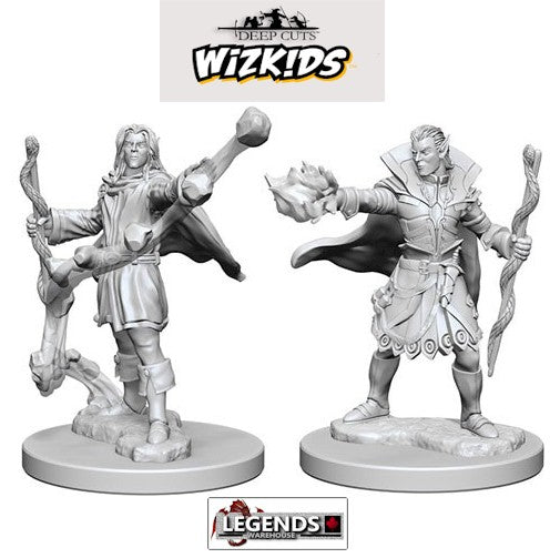 Deep Cuts - Unpainted Miniatures: Elf Male Sorcerers #WZK72605