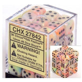 DICE - D6 - 36 Circus w/black Festive 12mm D6 Dice Block - CHX27842