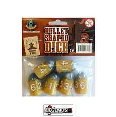 TINY EPIC - WESTERN  -  BULLET SHAPED DICE