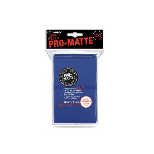 ULTRA PRO - DECK SLEEVES - Pro-Matte (100ct) Standard Deck Protectors BLUE