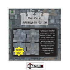 "DUNGEON TILES - GRAYSTONE 5 X 10"" + 16 X 5""  SQUARES"