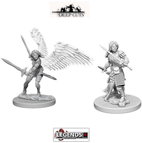 DUNGEONS & DRAGONS - UNPAINTED MINIATURES:  Aasimar Female Paladin (2) #WZK73343