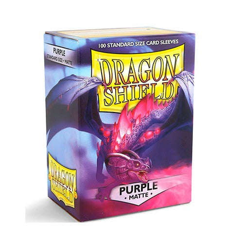 DRAGON SHIELD DECK SLEEVES - Dragon Shield • Matte Purple