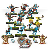 BLOOD BOWL - Lizardmen - Gwaka'moli Crater Gators -  Blood Bowl Team