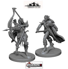 Deep Cuts - Unpainted Miniatures: Elf Male Fighter (2)  #WZK72598