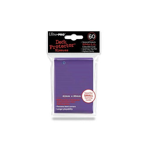 ULTRA PRO - DECK SLEEVES - (60ct) Small Card Deck Protectors PURPLE