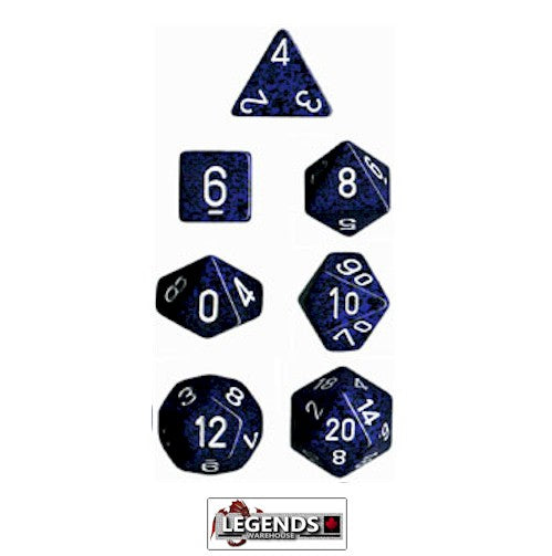 CHESSEX ROLEPLAYING DICE - Speckled Stealth 7-Dice Set  (CHX 25346)