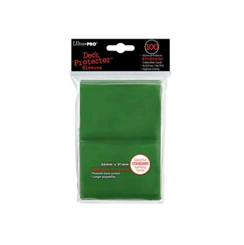 ULTRA PRO - DECK SLEEVES - (100ct) Standard Deck Protectors GREEN