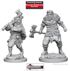 DUNGEONS & DRAGONS NOLZUR'S MARVELOUS UNPAINTED MINIATURES:  Human Male Barbarians