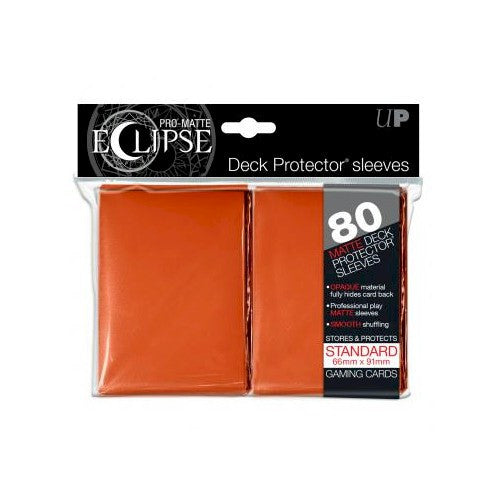 ULTRA PRO - DECK SLEEVES - PRO-MATTE Eclipse (80ct) Standard ORANGE