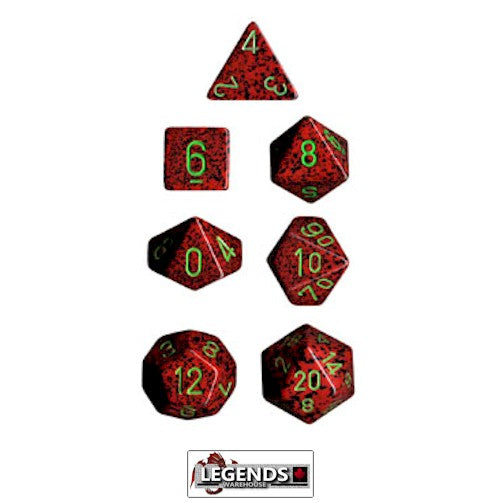 CHESSEX ROLEPLAYING DICE - Speckled Strawberry 7-Dice Set  (CHX 25304)