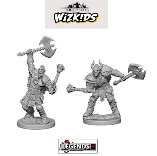 Deep Cuts - Unpainted Miniatures: Half-Orc Male Barbarians #WZK72613