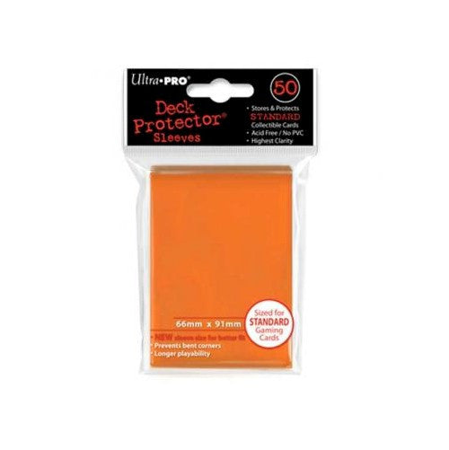 ULTRA PRO - DECK SLEEVES - (50ct) Standard Deck Protectors ORANGE