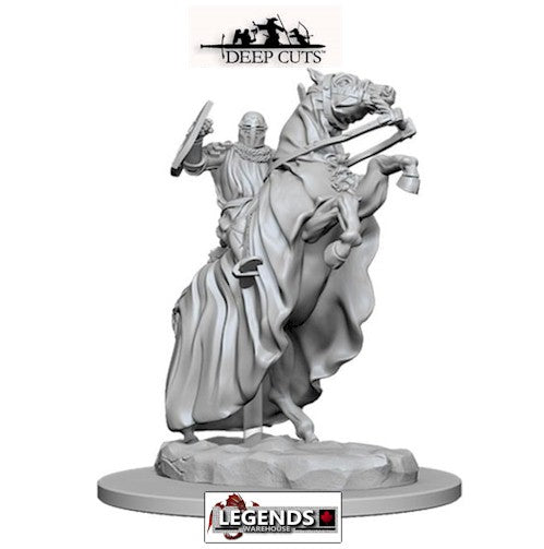 Deep Cuts - Unpainted Miniatures: Knight on Horse (1) #WZK73358
