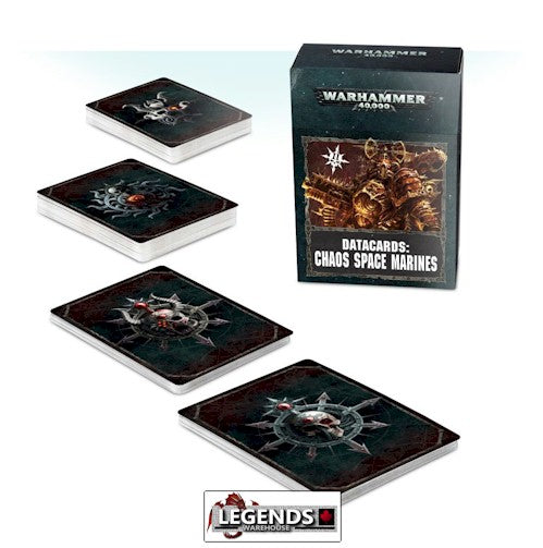 WARHAMMER 40K - CHAOS SPACE MARINES - DATACARDS