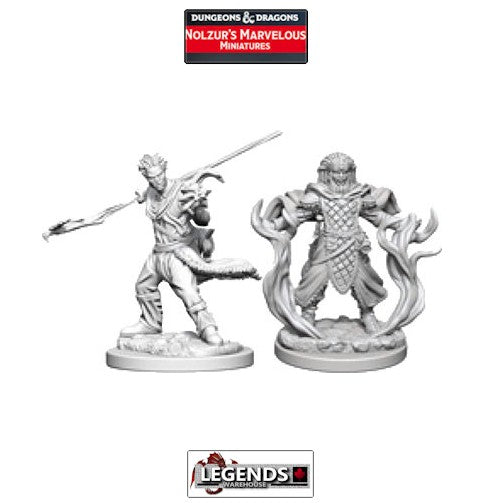 DUNGEONS & DRAGONS NOLZUR'S MARVELOUS UNPAINTED MINIATURES:  Human Male Druids #WZK72639