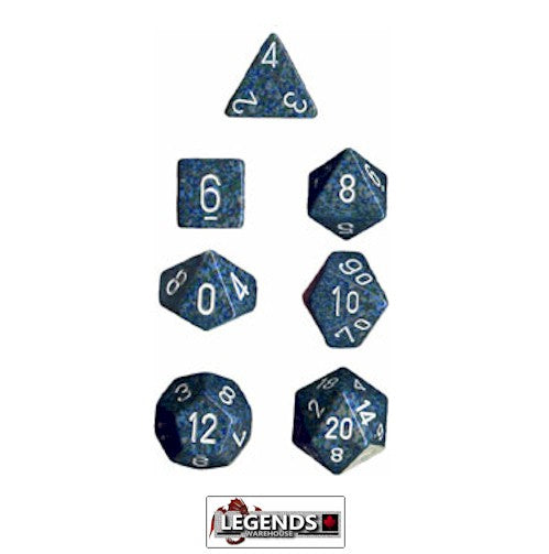 CHESSEX ROLEPLAYING DICE - Speckled Sea 7-Dice Set  (CHX 25316)