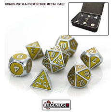 DIE HARD METAL DICE - Silver Topaz - Gemstone Collection