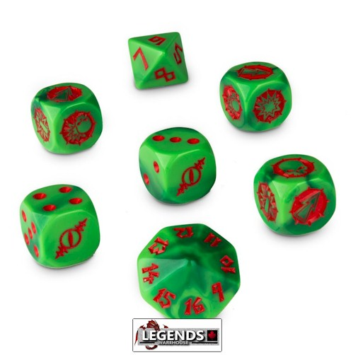 BLOOD BOWL - The Gouged Eye Dice Set