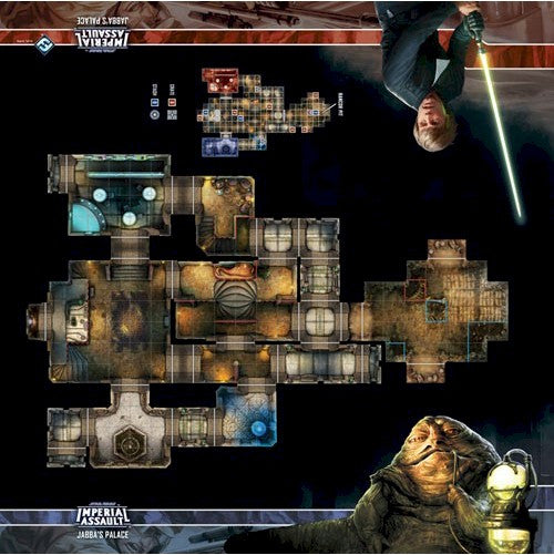 STAR WARS - IMPERIAL ASSAULT - MAPS - Jabba's Palace Skirmish Map