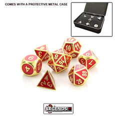 DIE HARD METAL DICE - Gold Ruby - Gemstone Collection