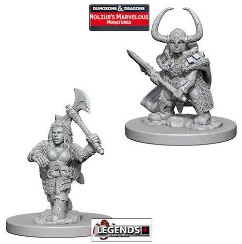 DUNGEONS & DRAGONS NOLZUR'S MARVELOUS UNPAINTED MINIATURES:  Dwarf Female Barbarian #WZK72645
