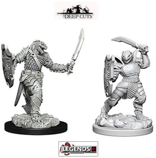 DUNGEONS & DRAGONS - UNPAINTED MINIATURES:  Dragonborn Female Paladin (2) #WZK73341