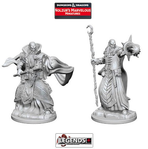 DUNGEONS & DRAGONS NOLZUR'S MARVELOUS UNPAINTED MINIATURES:  Human Male Wizards #WZK72618