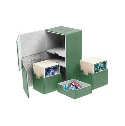 ULTIMATE GUARD - DECK BOXES - TWIN FLIP'n'TRAY XENOSKIN™ DECK CASE 160+ - GREEN