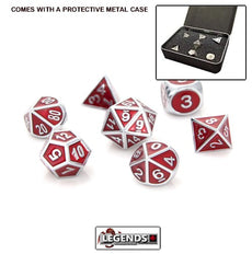 DIE HARD METAL DICE - Silver Ruby - Gemstone Collection