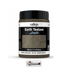VALLEJO - DIORAMA EARTH TEXTURES - DARK EARTH - 200ML