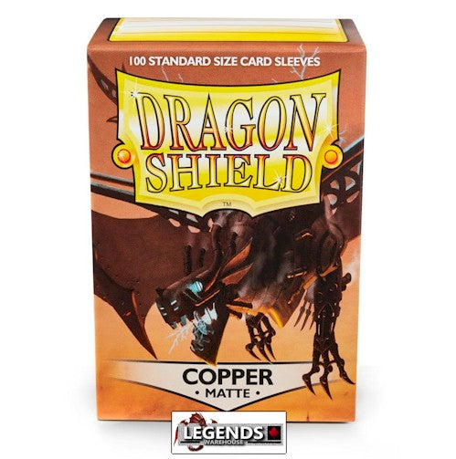 DRAGON SHIELD DECK SLEEVES - Dragon Shield • Matte Copper