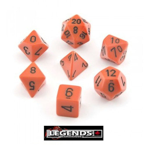 CHESSEX ROLEPLAYING DICE - Opaque Orange 7-Dice Set  (CHX25403)