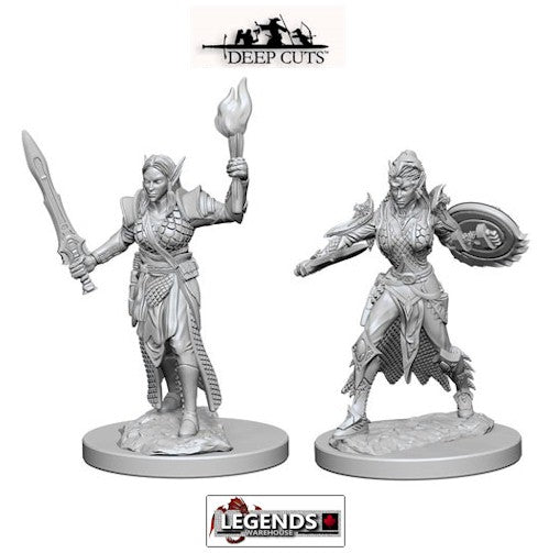 Deep Cuts - Unpainted Miniatures: Elf Female Fighter (2)  #WZK72599
