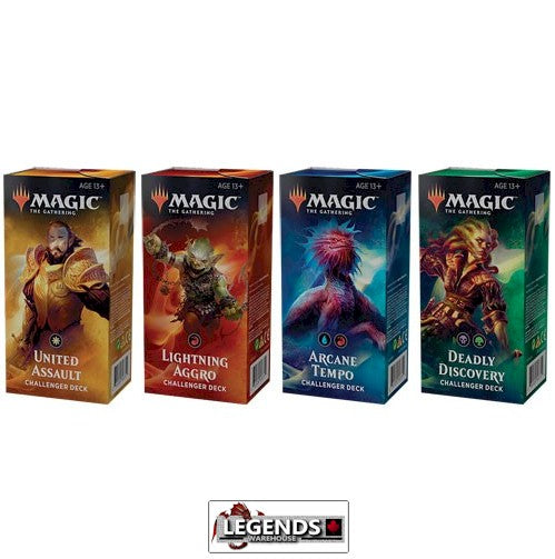MTG - CHALLENGER DECKS 2019 - Set of 4 - ENGLISH