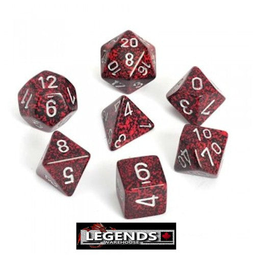 CHESSEX ROLEPLAYING DICE - Speckled Silver Volcano 7-Dice Set  (CHX 25344)