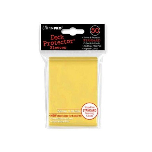ULTRA PRO - DECK SLEEVES - (50ct) Standard Deck Protectors YELLOW