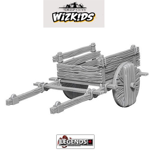 Deep Cuts Unpainted Miniatures: 2-Wheel Cart #WZK73096