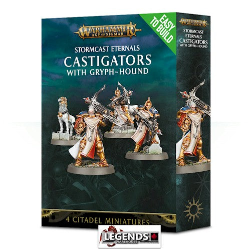 WARHAMMER: AGE OF SIGMAR -Easy to Build Castigators with Gryph-hound