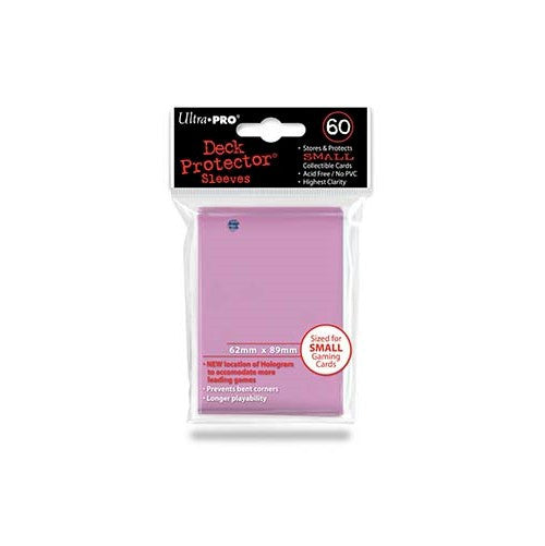 ULTRA PRO - DECK SLEEVES - (60ct) Small Card Deck Protectors PINK